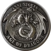 Silver Sertus (Anne  Stokes Age of Dragons Coin Series) – obverse