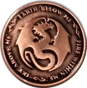 Copper Mitas (Anne  Stokes Age of Dragons Coin Series) – reverse