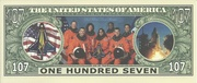 107 Dollars (Space Shuttle Columbia) – reverse