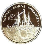 20 ECU - Harald V (Fridtjof Nansen) – obverse
