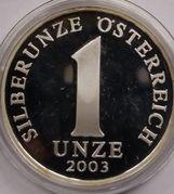 1 oz Silver (Silberunze - States of Austria) – reverse