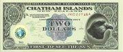 Two Dollars (Millennium First Note; Chatham Islands) – obverse