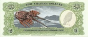 Two Dollars (Millennium First Note; Chatham Islands) – reverse