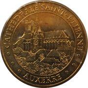 Monnaie de Paris Tourist Token - Auxerre (Cathédrale Saint-Etienne - Vue de l'Yonne) -  obverse
