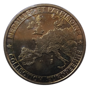 Token - Medailles et Patrimoine Collection Europeenne (Avignon - Palais des Papes) -  reverse