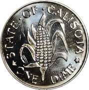 1 Dime - State of Calisota – reverse