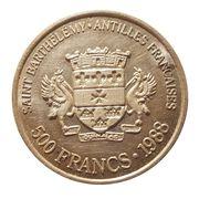500 Francs / 500 Riksdaler – obverse