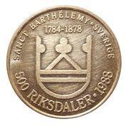 500 Francs / 500 Riksdaler – reverse