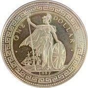 1 Dollar (Mahatma Gandhi; India Independence) – reverse