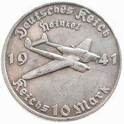 10 Reichsmark (Heinkel) – obverse