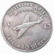 10 Reichsmark (Messerschmitt) – obverse