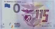 0 euro - SL Benefica - 115 anos (1904-2019) – obverse