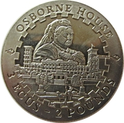 3 ECU / 2 Pounds (Osborne house) – reverse