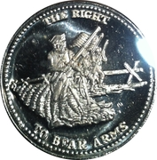 1 oz silver (Johnson Matthey - The Right To Bear Arms) – obverse