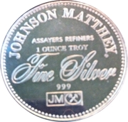 1 oz silver (Johnson Matthey - The Right To Bear Arms) – reverse