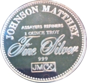 1 oz silver (Johnson Matthey - The Right To Privacy) – reverse