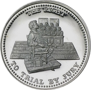1 oz silver (Johnson Matthey - The Right To Trial By Jury) – obverse