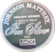 1 oz silver (Johnson Matthey - The Right To Trial By Jury) – reverse
