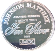 1 oz silver (Johnson Matthey - The Right To Vote) – reverse
