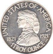 1 oz silver (Missouri Centennial) – obverse