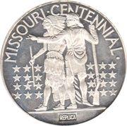 1 oz silver (Missouri Centennial) – reverse