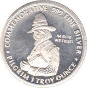 1 oz silver (Pilgrim Tercentenary) – obverse