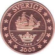 2 Cent (Sweden Euro Fantasy Token) – obverse