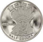 ½ Dollar (Geronimo) – reverse