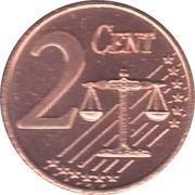 2 Cent (Sweden Euro Fantasy Token) – reverse