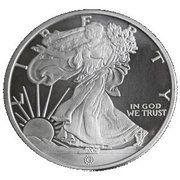 1 oz silver (Walking Liberty) – obverse