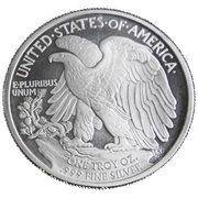 1 oz silver (Walking Liberty) – reverse