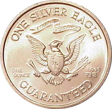 1 Oz Silver Liberty Lobby Silver Eagle Exonumia