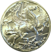 1 oz silver (Goldsilver.com - Pegasus) – obverse