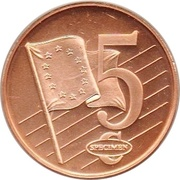 5 Cent (Sweden Euro Fantasy Token) – reverse
