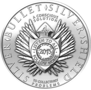 1 oz silver (Silver Bullet Silver Shield - Slave Queen) – reverse