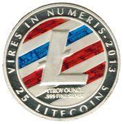 1 oz silver - (Litecoin - Blue L) – obverse