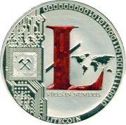 1 oz silver - (Litecoin - Red L) – reverse
