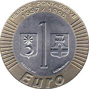 1 Euro (Ecco l'Euro Token; Fiesole/Pontassieve) – reverse