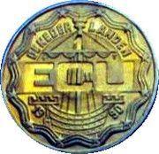 1 ECU - Beatrix (Deventer Mint 1000th Anniversary) -  obverse