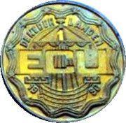 1 ECU - BEATRIX (Zoetermeer) -  obverse