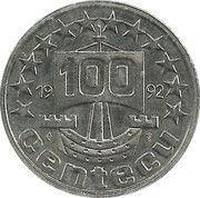 100 Centecu - Beatrix (De Nederlanden) -  reverse