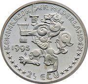 2½ ECU - Beatrix (Grotius 1583-1645) -  obverse