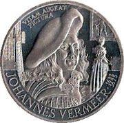 2½ ECU - Beatrix (Johannes Vermeer) -  reverse