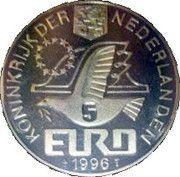 5 Euro - Beatrix (Const. Huygens) -  obverse