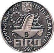 5 Euro - Beatrix (Johan Van Oldenbarnevelt) -  obverse
