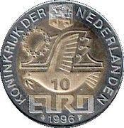 10 Euro - Beatrix (Const. Huygens -1596/1687-) -  obverse