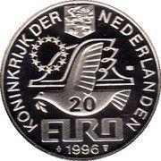 20 Euro - Beatrix (Const. Huygens) -  obverse