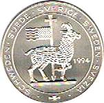 5 ECU - Carl XVI Gustaf (Port of Visby) – obverse