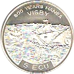 5 ECU - Carl XVI Gustaf (Port of Visby) – reverse