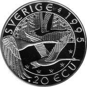 20 ECU (Gustaf II Adolf) – reverse